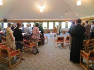 Forum participants worship together. Photo by André Lavergne, ELCIC.